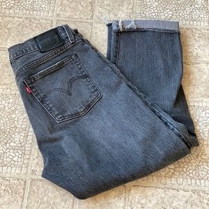 Levi's black label wedgie straight jeans size 28